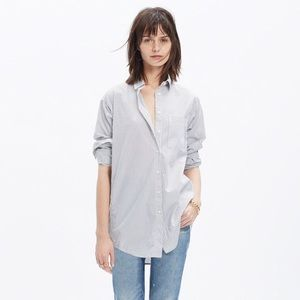 Madewell Oversized Boyshirt - stripe